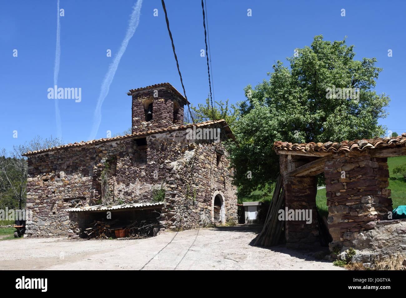 Church of Nuestra Senora de la Asuncion, Piedrehita, Ribagorza, Huesca, Aragon,Spain - Stock Image