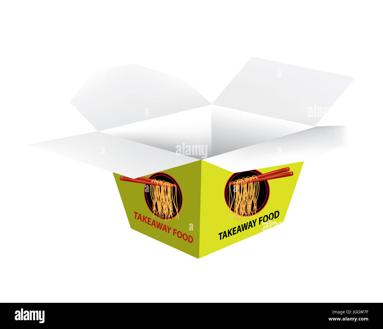 Packaging for takeaway box - Stock Image