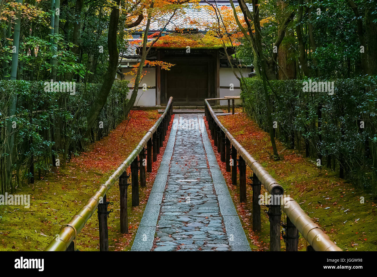 Colorful Autumn at Koto-inTemple in Kyoto, Japan - Stock Image