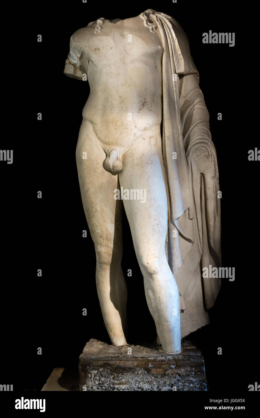 Colossal statue of Veiovis, The Capitoline Museums, Rome, Italy - Stock Image