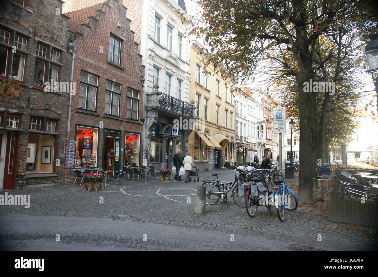 Bruges City Landscape Belgium - Stock Image