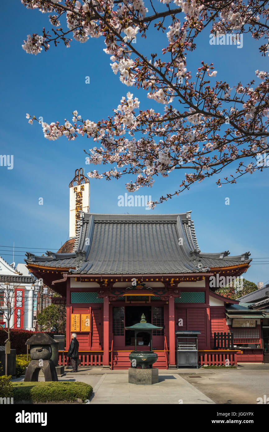 Pagoda traditional architecture of the Sensoji Temple in Asakusa, Tokyo, Japan. - Stock Image
