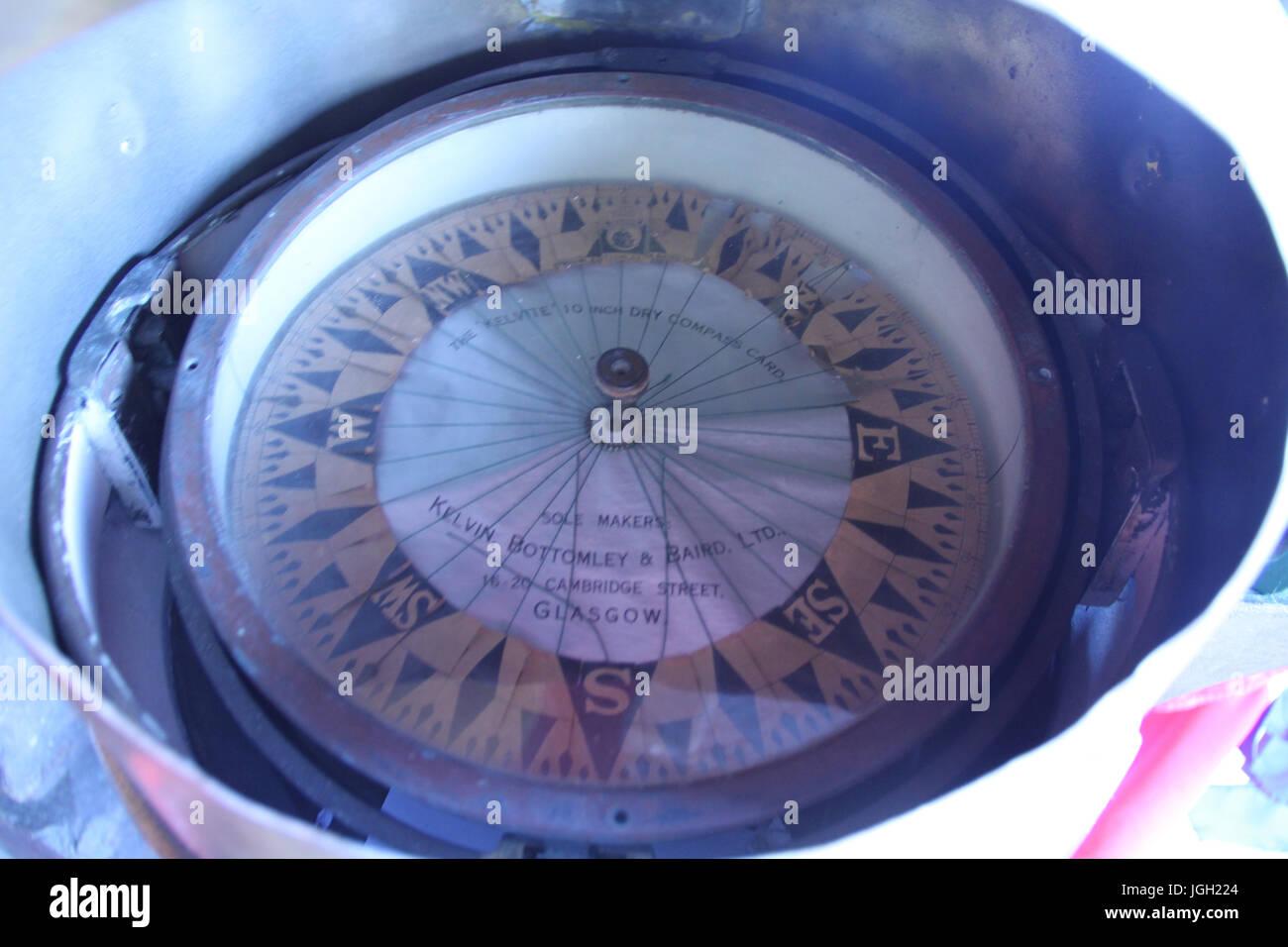 Compass, navigation; 2016, Rio de Janeiro, Brazil. - Stock Image