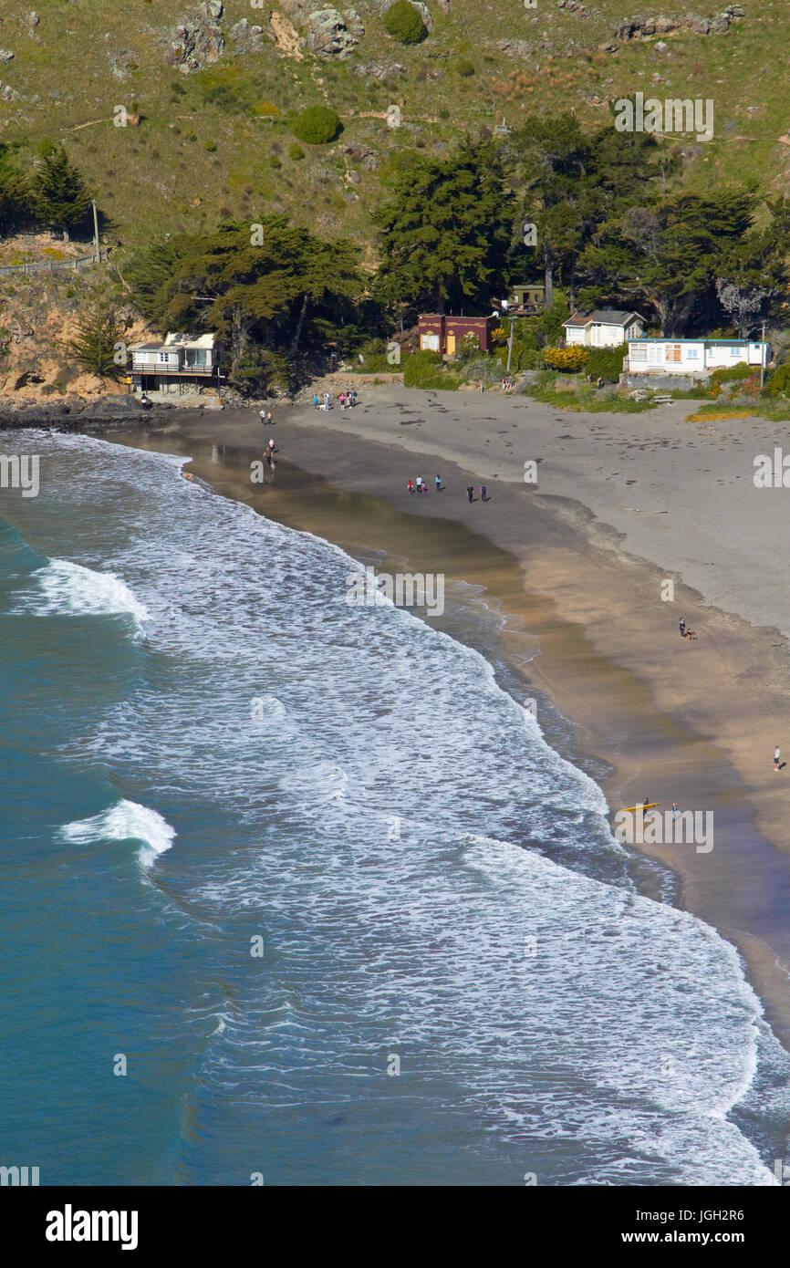Taylors Mistake, near Sumner, Christchurch, Canterbury, South Island, New Zealand - Stock Image