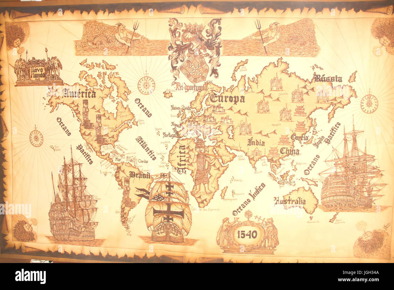 Old world map 2016 center rio de janeiro brazil stock photo old world map 2016 center rio de janeiro brazil gumiabroncs Gallery