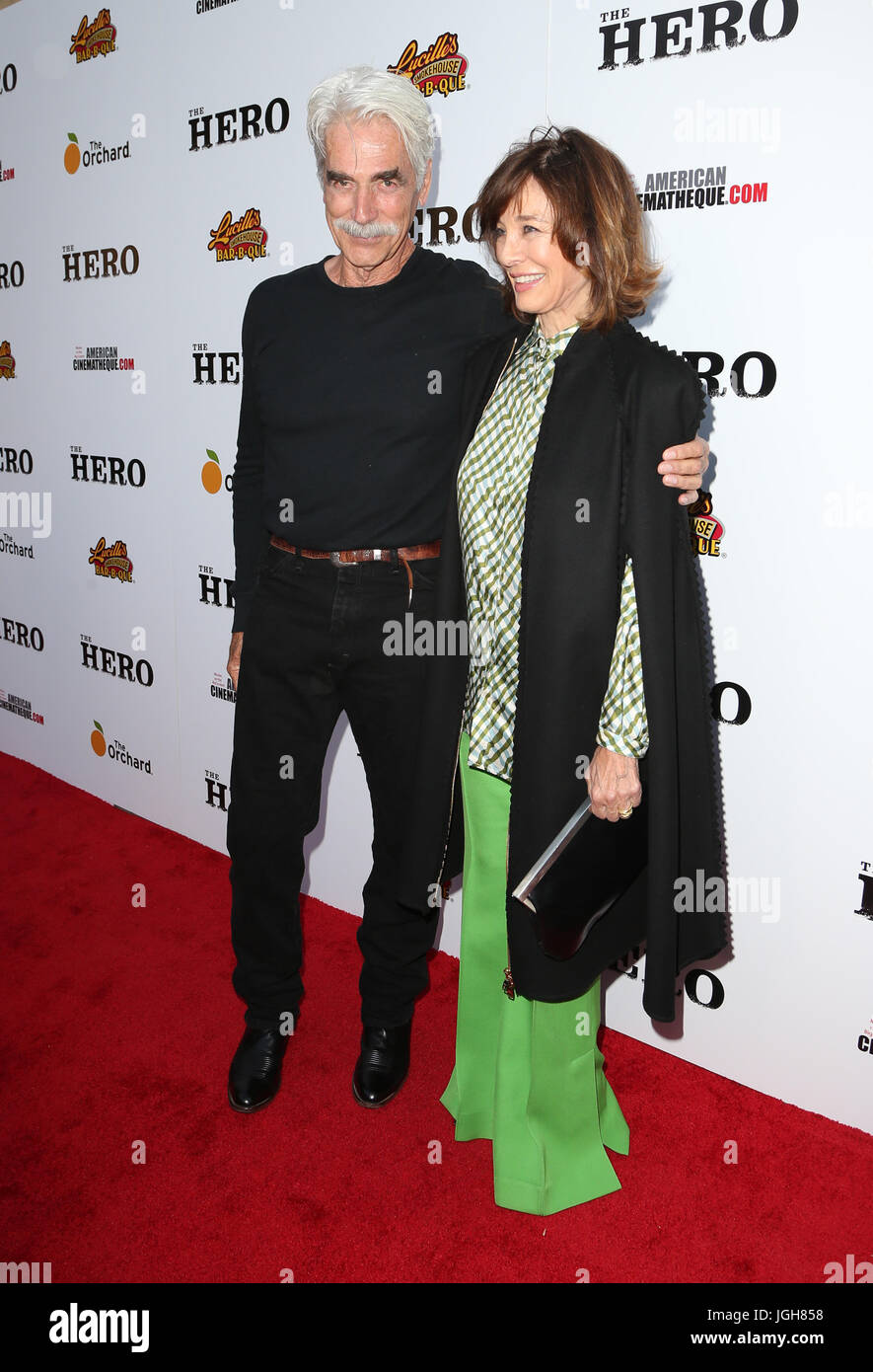 Premiere Of The Orchard's 'The Hero'  Featuring: Sam Elliot, Anne Archer Where: Hollywood, California, - Stock Image