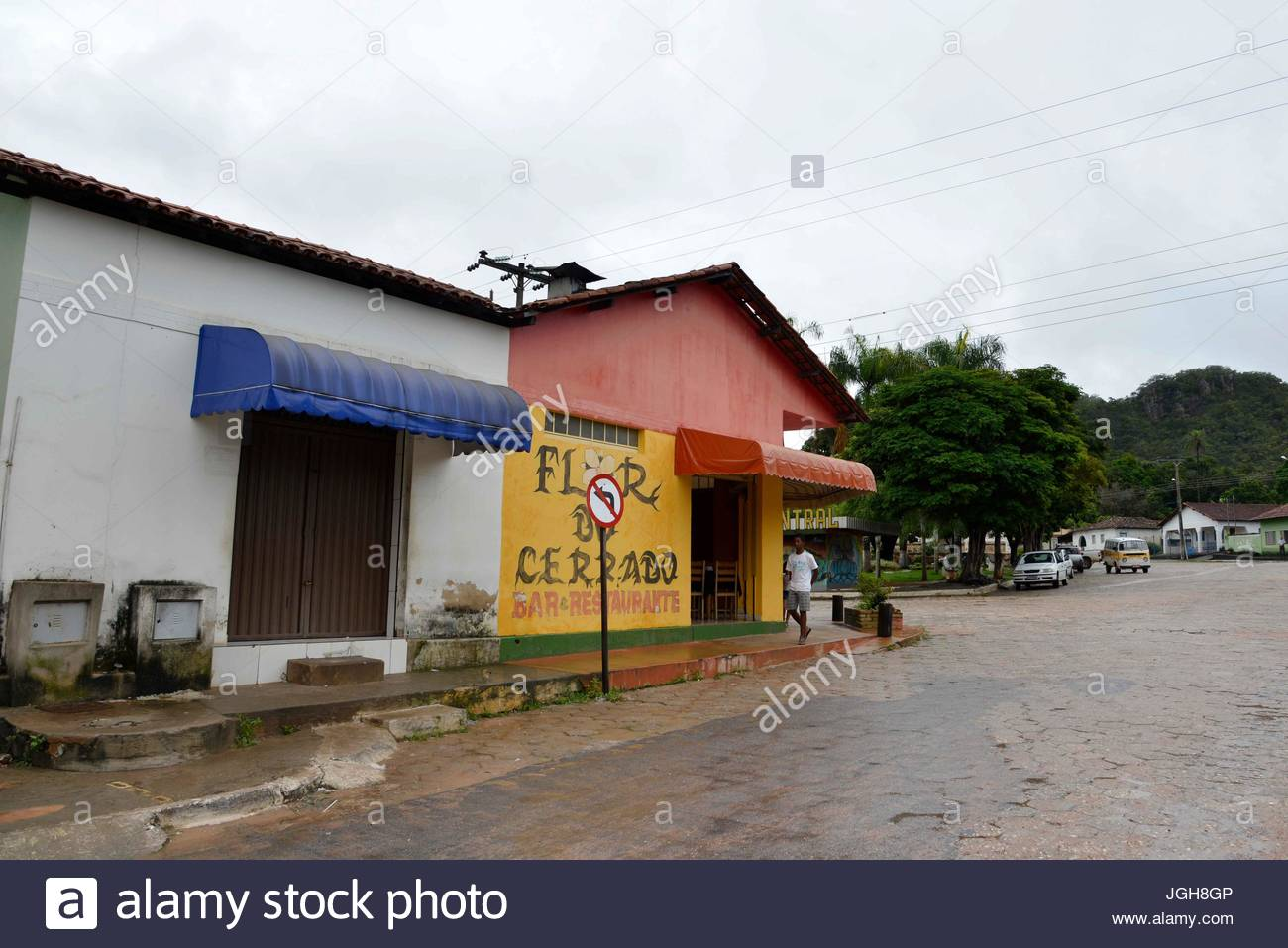 The city center after rain, Cavalcante, Goias, Brazil.03.2015 - Stock Image