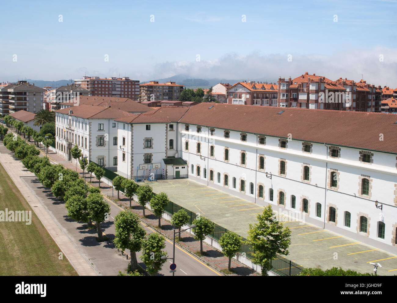 Military academy or Academia militar en Santoña, Cantabria, Spain - Stock Image