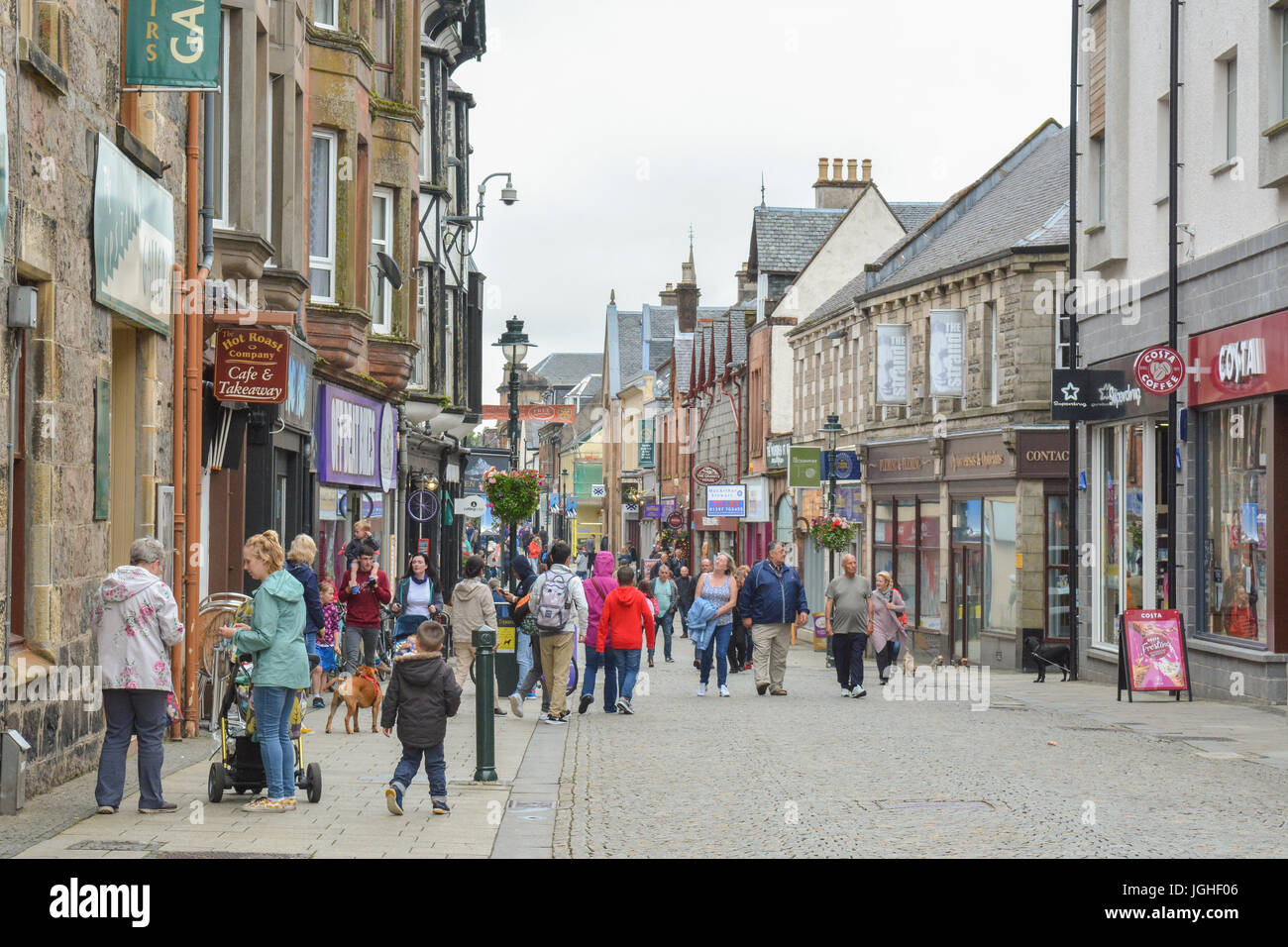 Fort William High Street and town centre, Highland, Scotland, UK Stock Photo