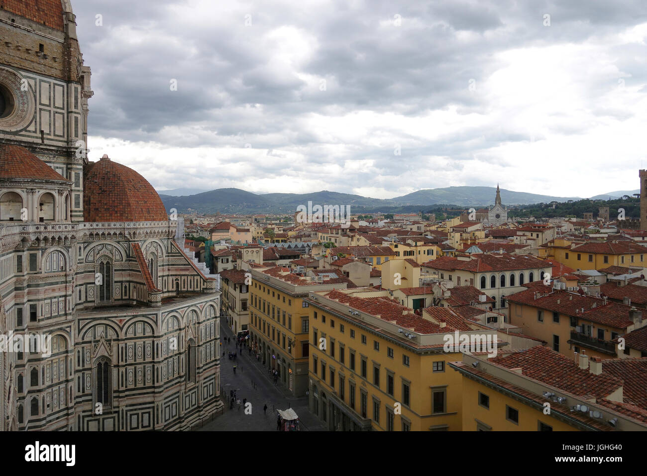 View from the Duomo, Florence, Italy - Stock Image