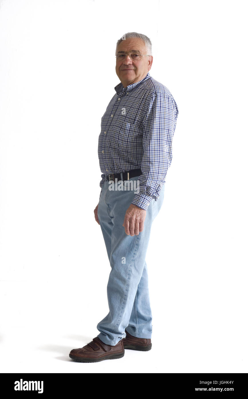 Portrait of a mature man full body - Stock Image