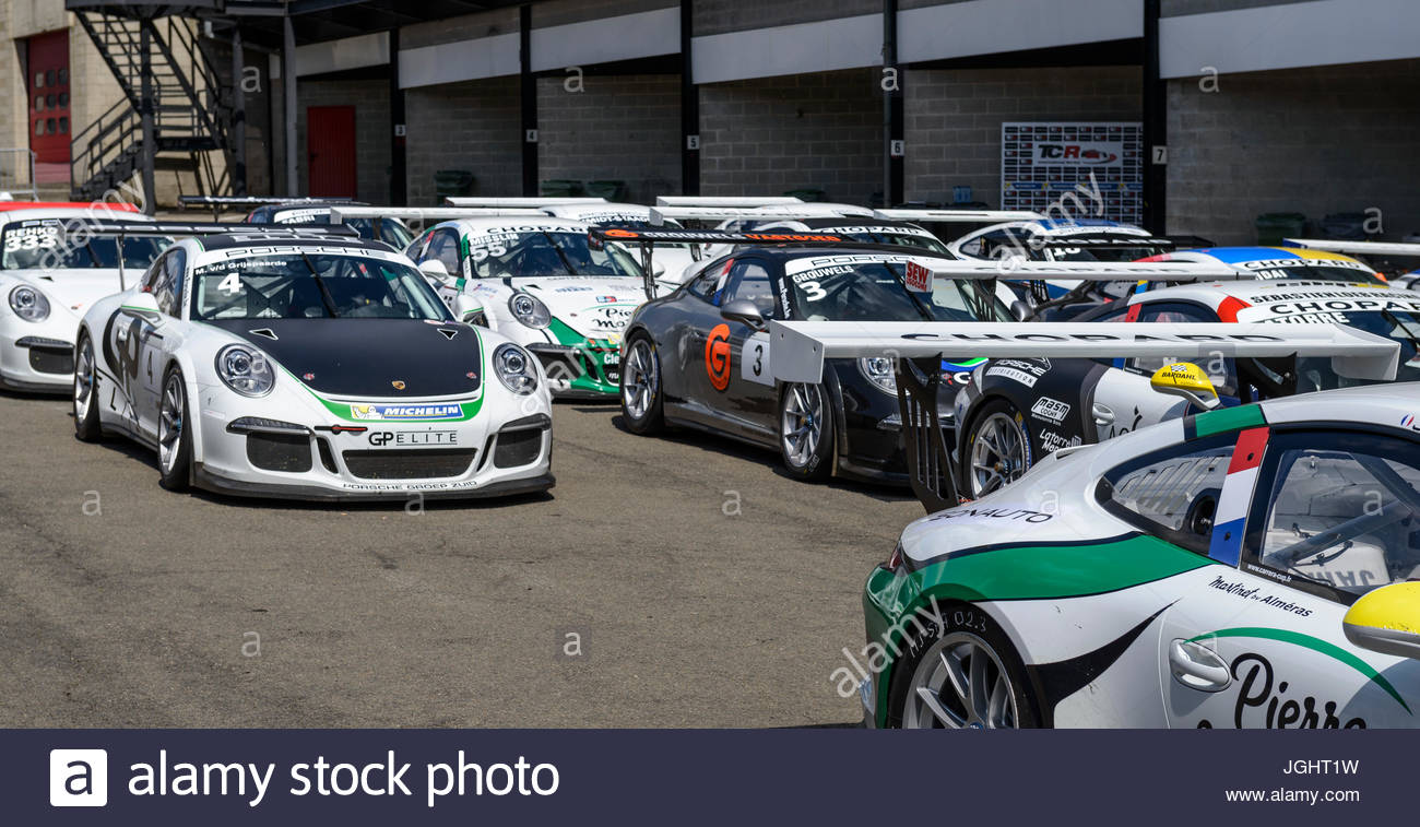 Porsche 911 GT3 Cup Racing Car At Spa Francorchamps The Participates In 2016 Challenge Benelux Supercup 9