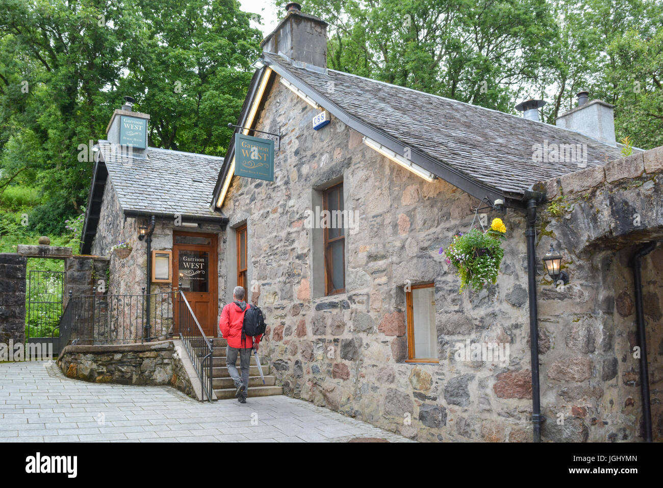 Garrison West pub and restaurant (part of the Do Drop Inns chain), Fort William, Scotland, UK - Stock Image