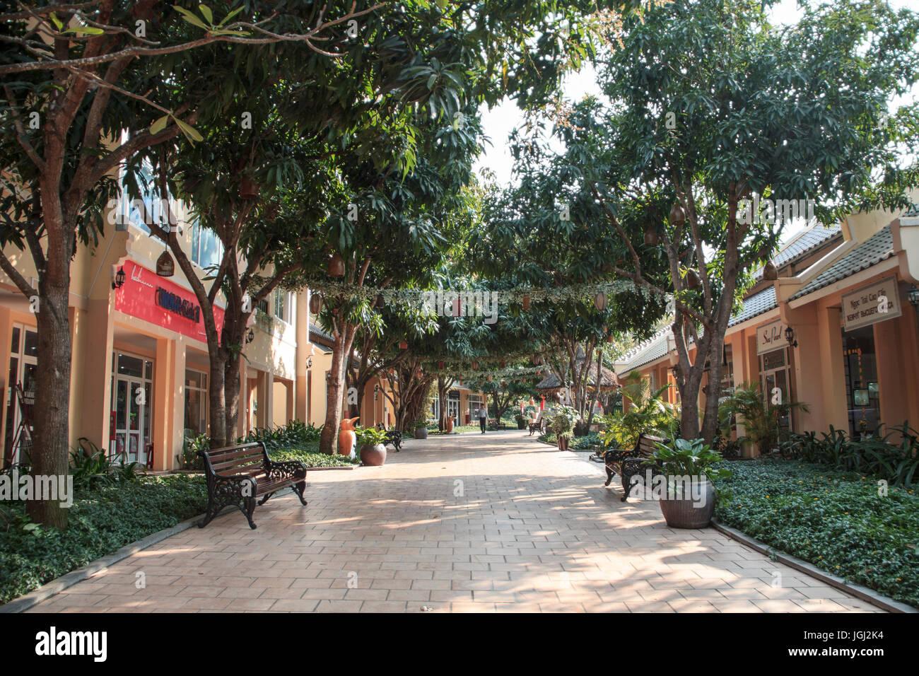 VINPEARL RESORT, NHA TRANG, VIETNAM, MARCH 5, 2016 - Shopping mall street. - Stock Image