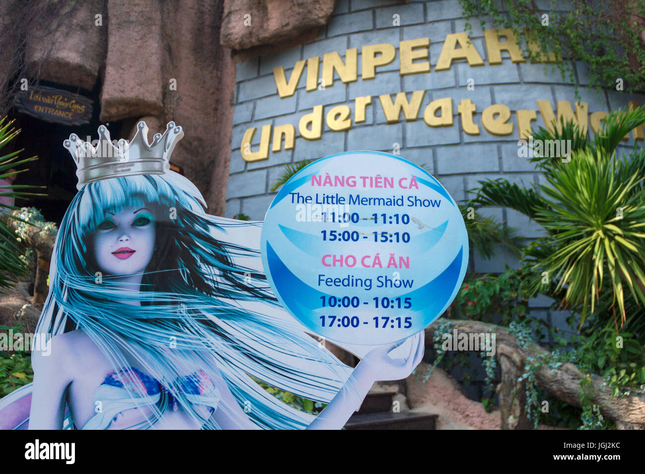VINPEARL RESORT, NHA TRANG, VIETNAM, MARCH 5, 2016 - Vinpearl UnderWaterWorld entrance decoration. - Stock Image