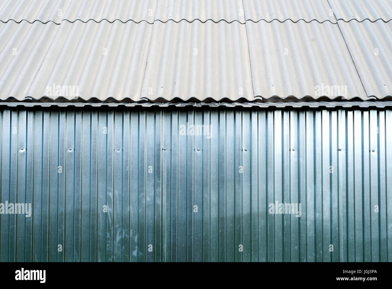 Sheet metal Aluminum in silver color often used for fencing, roofing ...