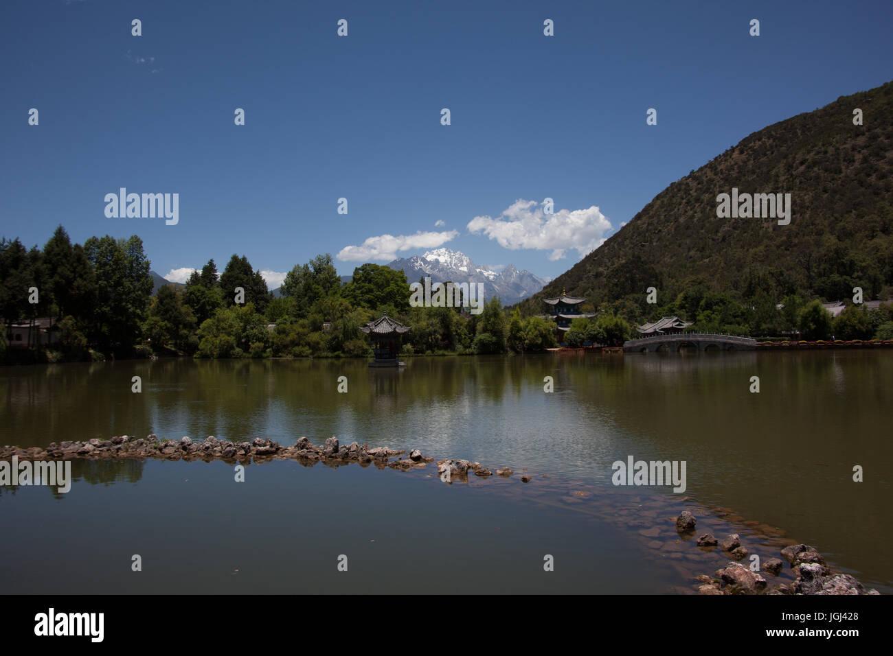 Lijiang, Yunnan, Kunming, China. Heritage village, living and landscapes - Stock Image