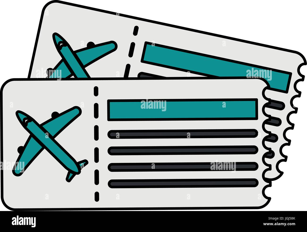 plane tickets vector illustration stock vector art illustration rh alamy com free clipart plane ticket