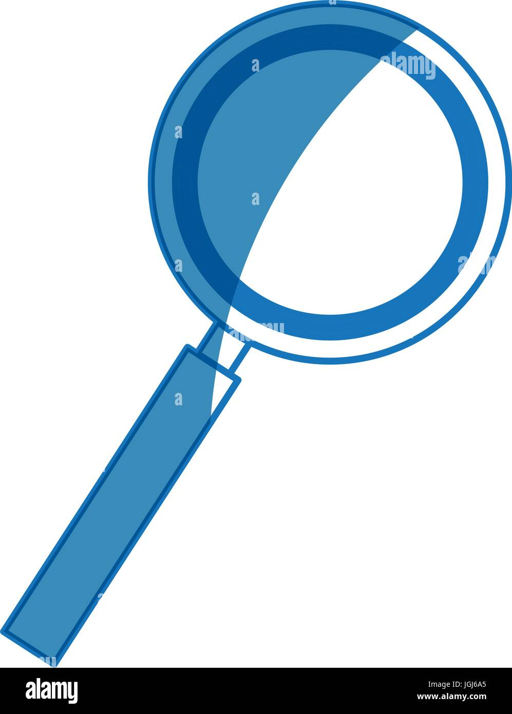 magnifier search loupe tool zoom find Stock Vector