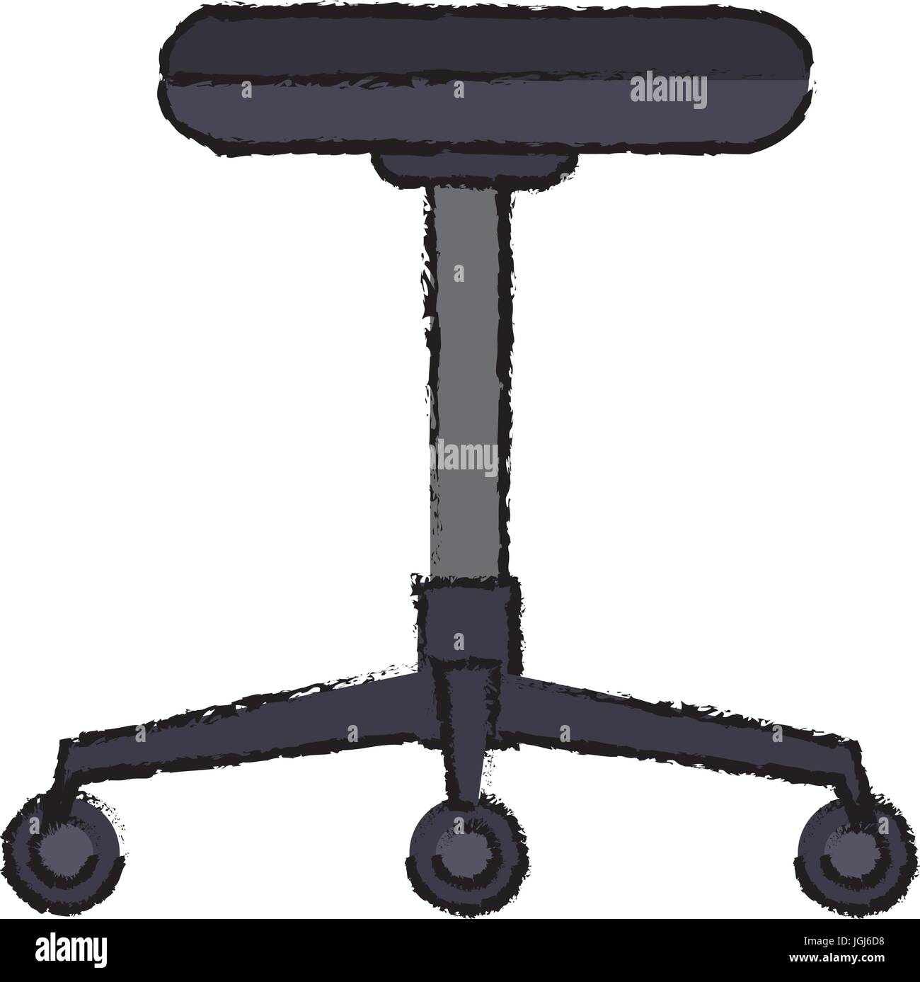 backless chair office furniture wheel - Stock Image