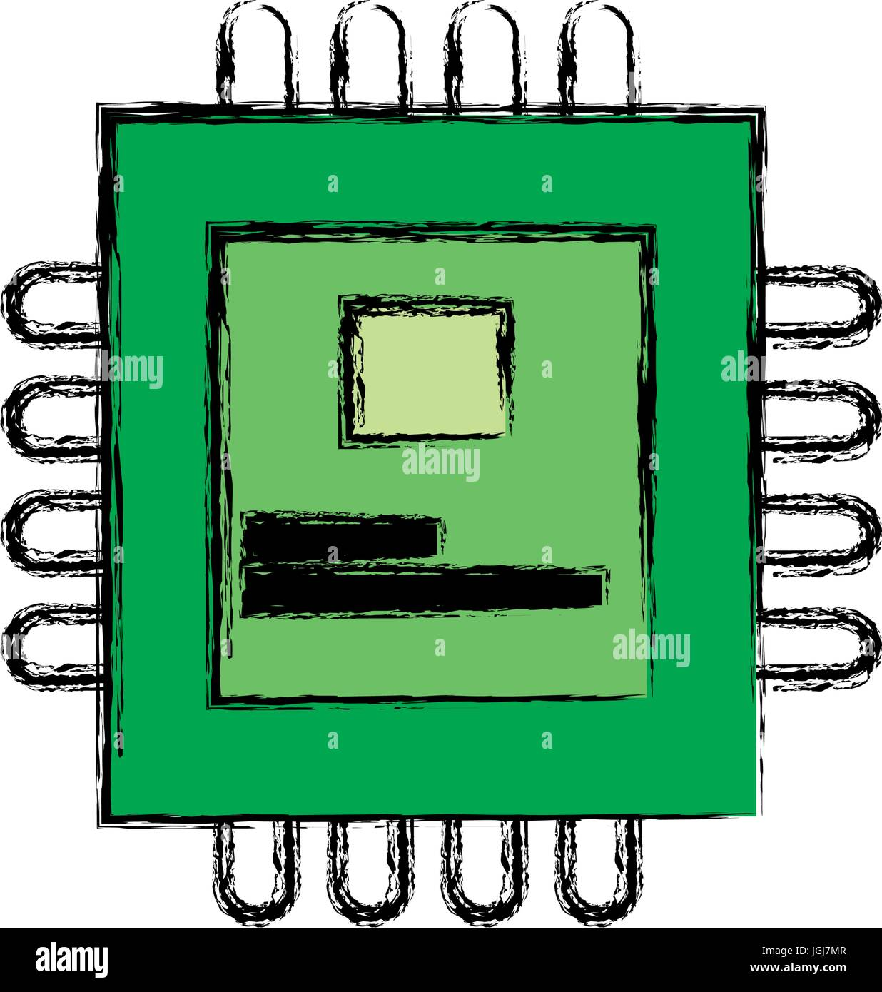 circuit board processor and chip engineering and tech motherboard - Stock Vector