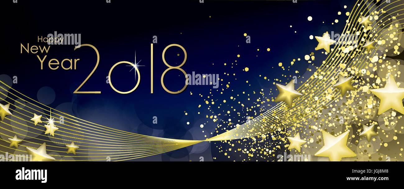 happy new year 2018 greeting card vector stock vector art