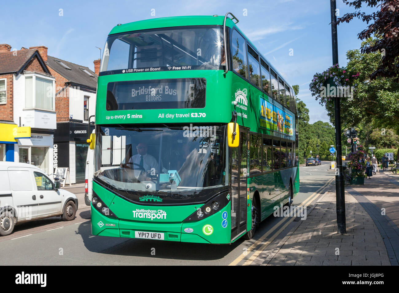 Nottingham City Transport Nct Biogas Bus In West Bridgford Nottinghamshire England Uk