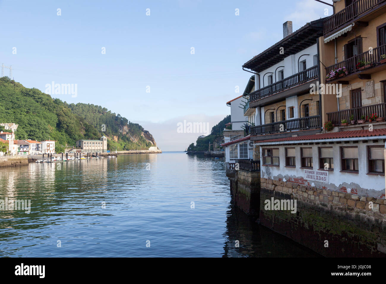 At Pasajes (Guipuzkoa - Spain), on the way to the mouth of the fjord by the right bank. Pasajes is the San Sebastian's - Stock Image