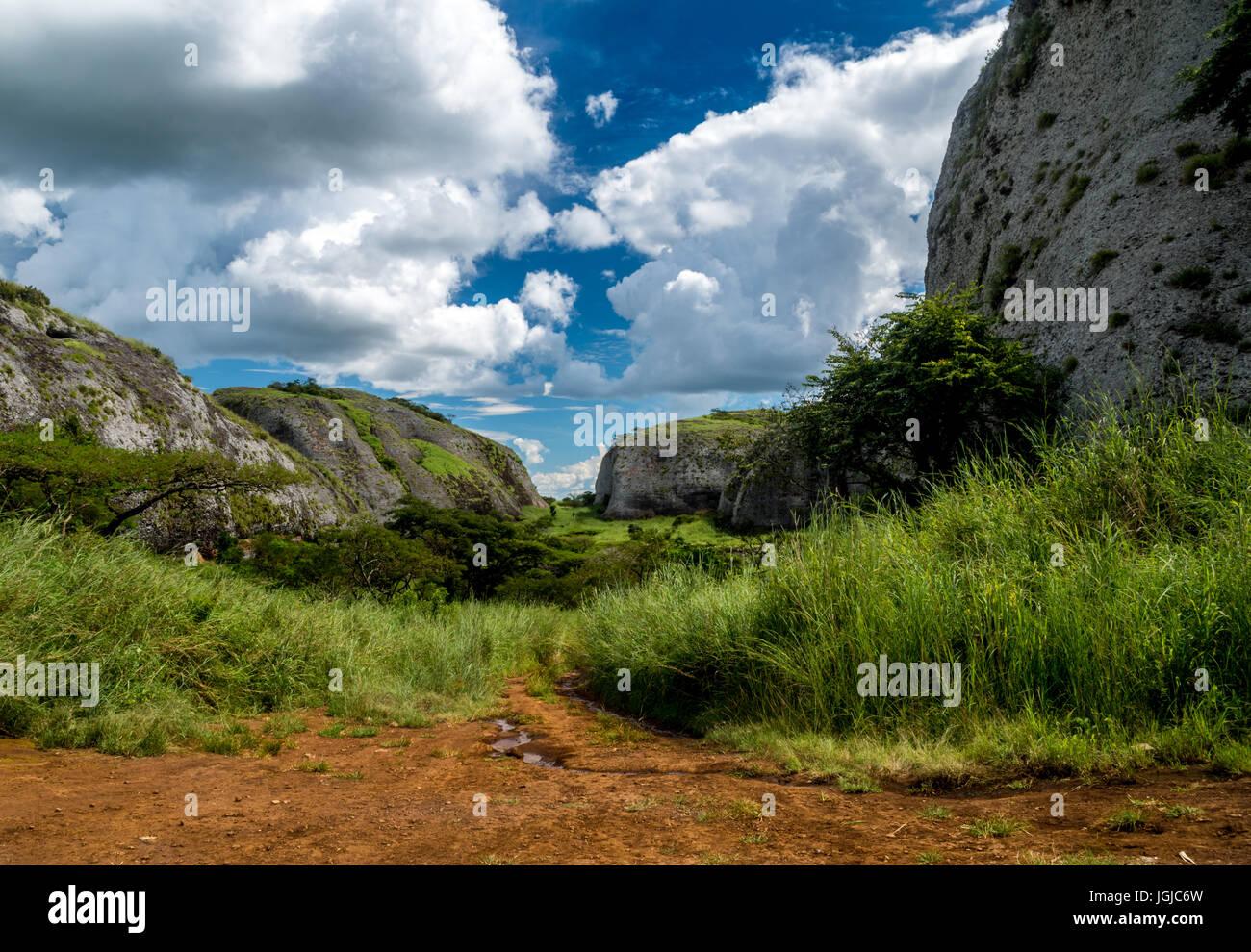 The Black Rocks of Pungo Andongo, Angola Stock Photo