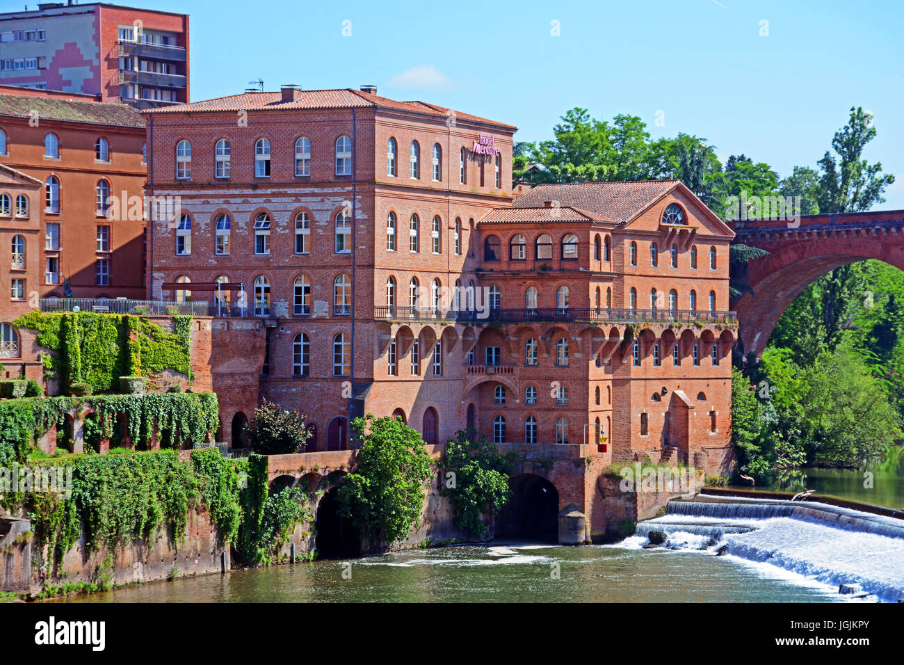 The Mercure hotel on Tarn riverside, Albi, Occitanie, France - Stock Image