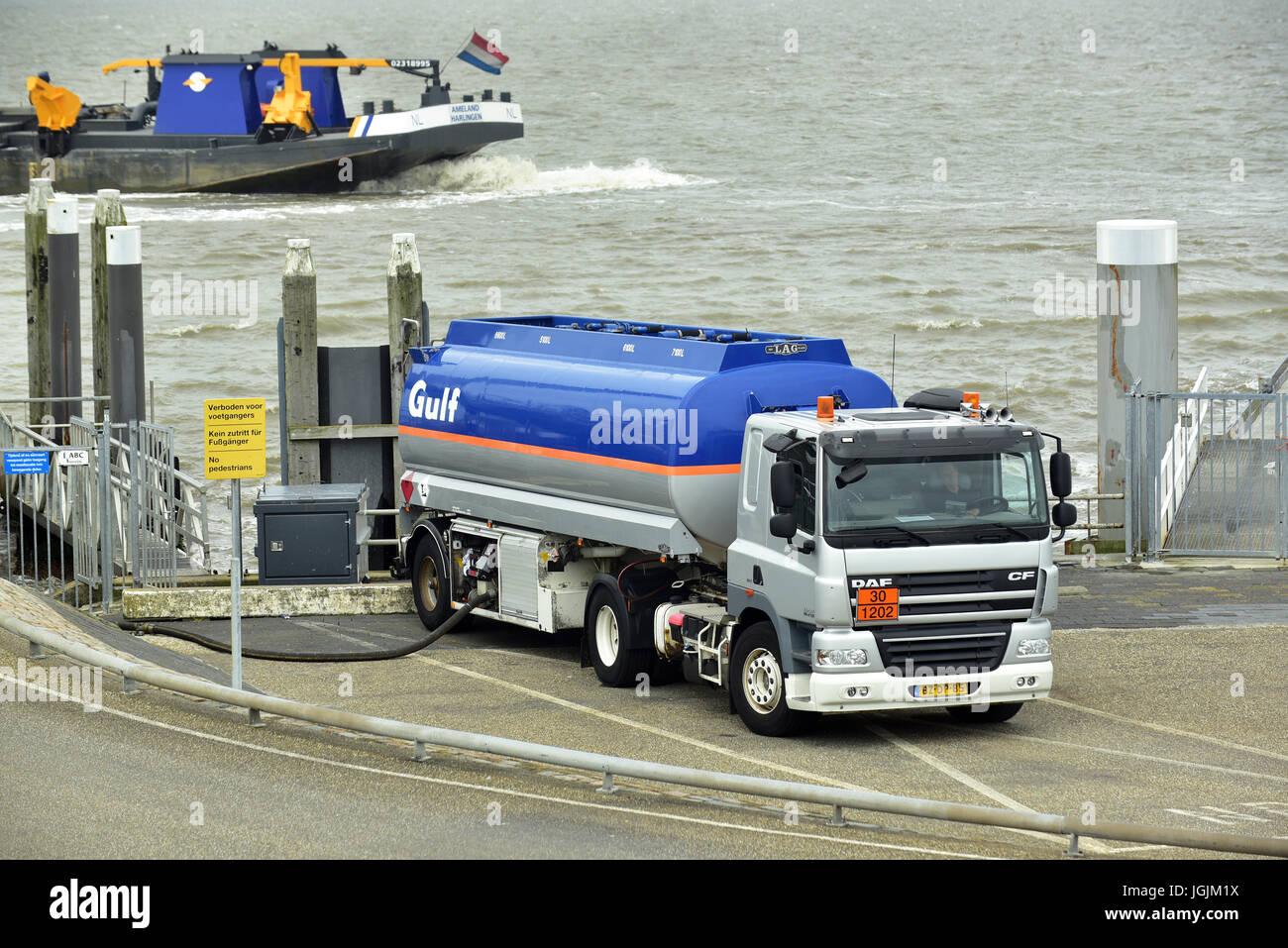 Gulf fueltanker, fueltruck  fuel tanker, fuel truck - Stock Image