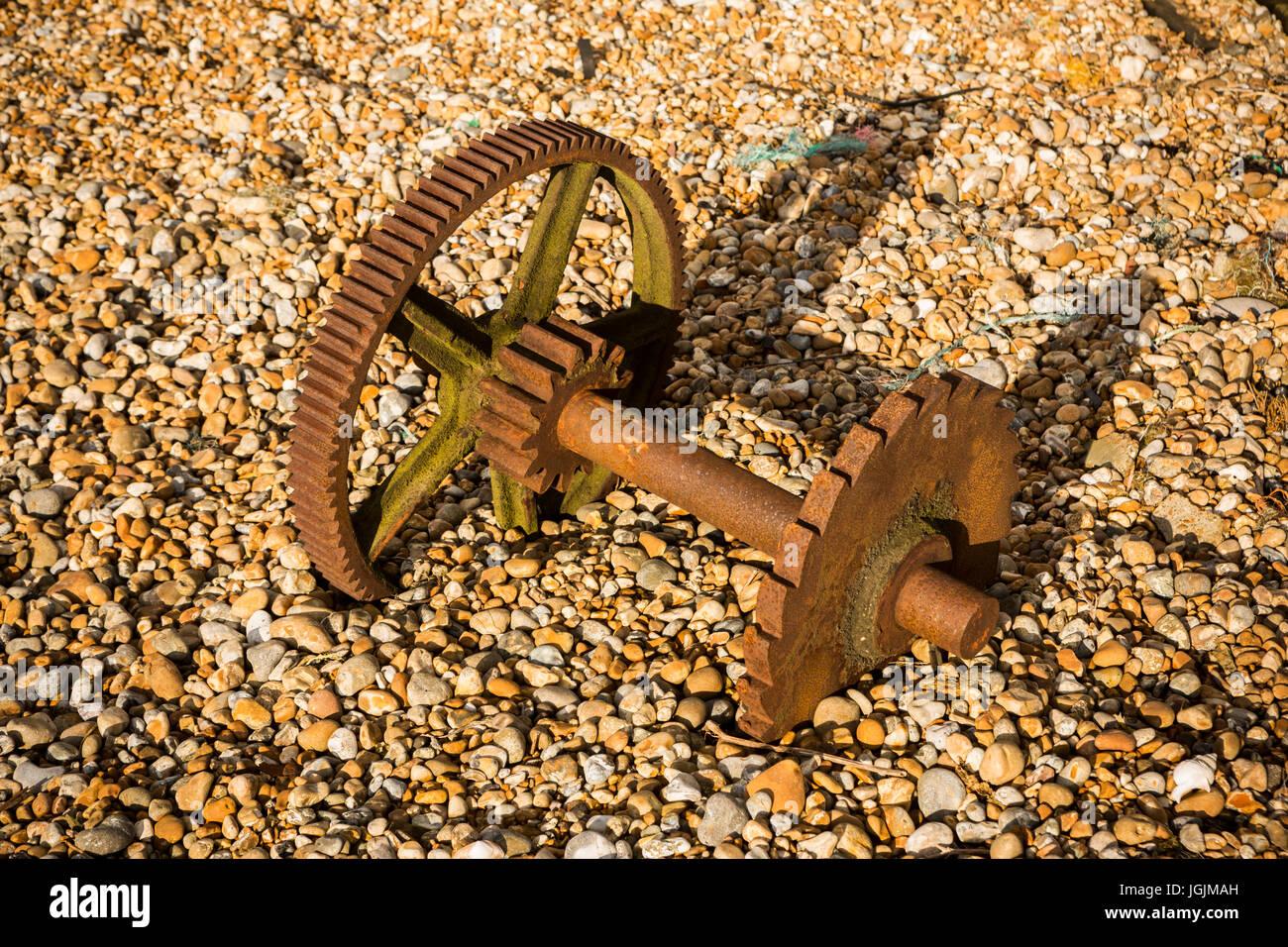 Old rusty cog wheels - Stock Image