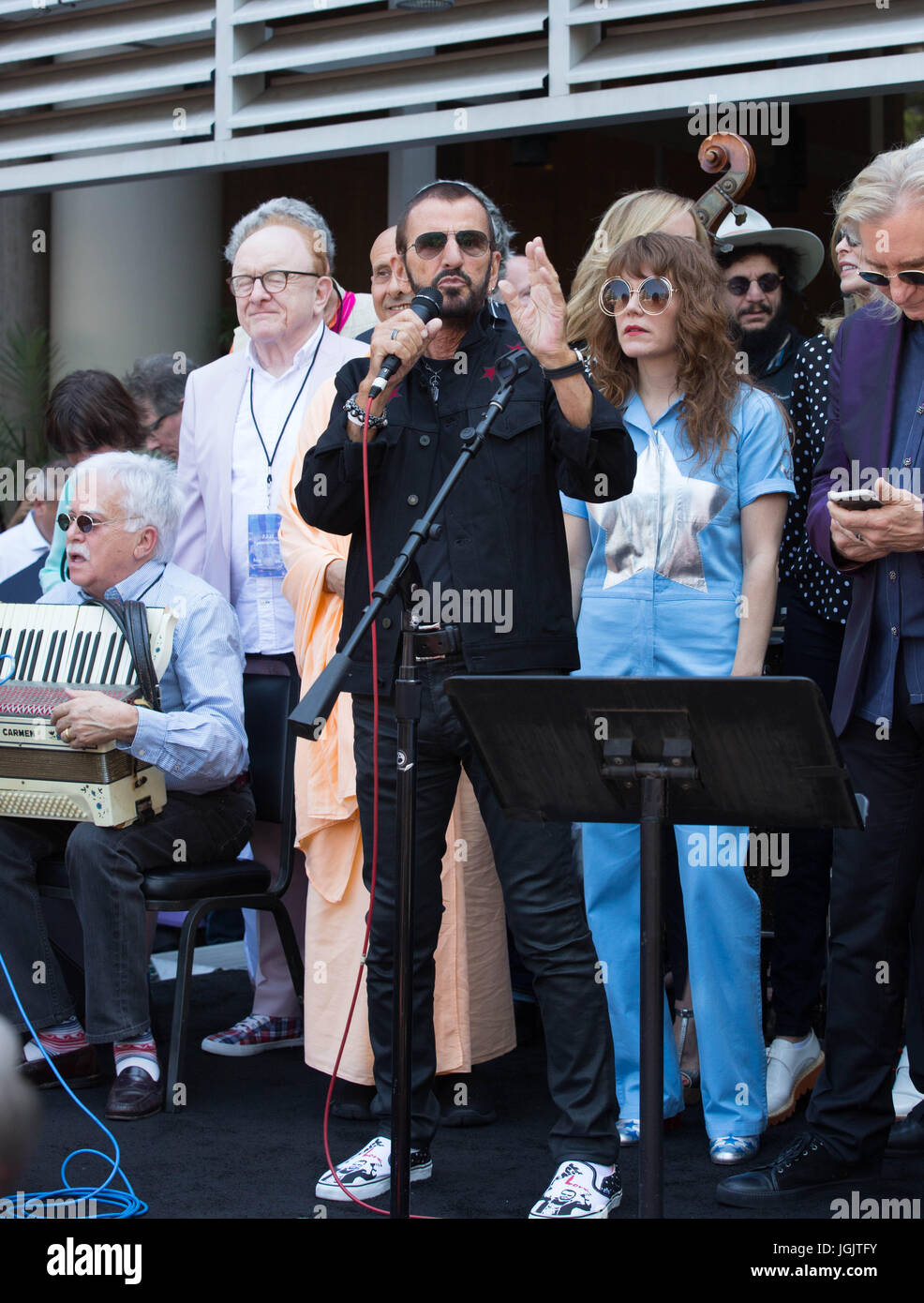 Hollywood,California,USA. 06th July,2017. Musician Ringo Starr appears his 'Peace & Love' 77th birthday - Stock Image
