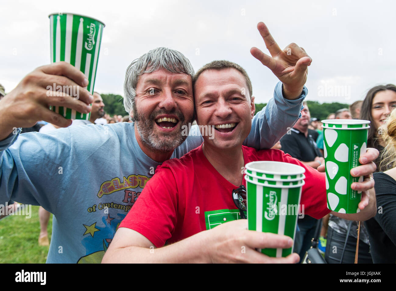 Coventry, UK. 7th July, 2017.  The annual Coventry Godiva Music Festival opened last night with huge crowds attending - Stock Image