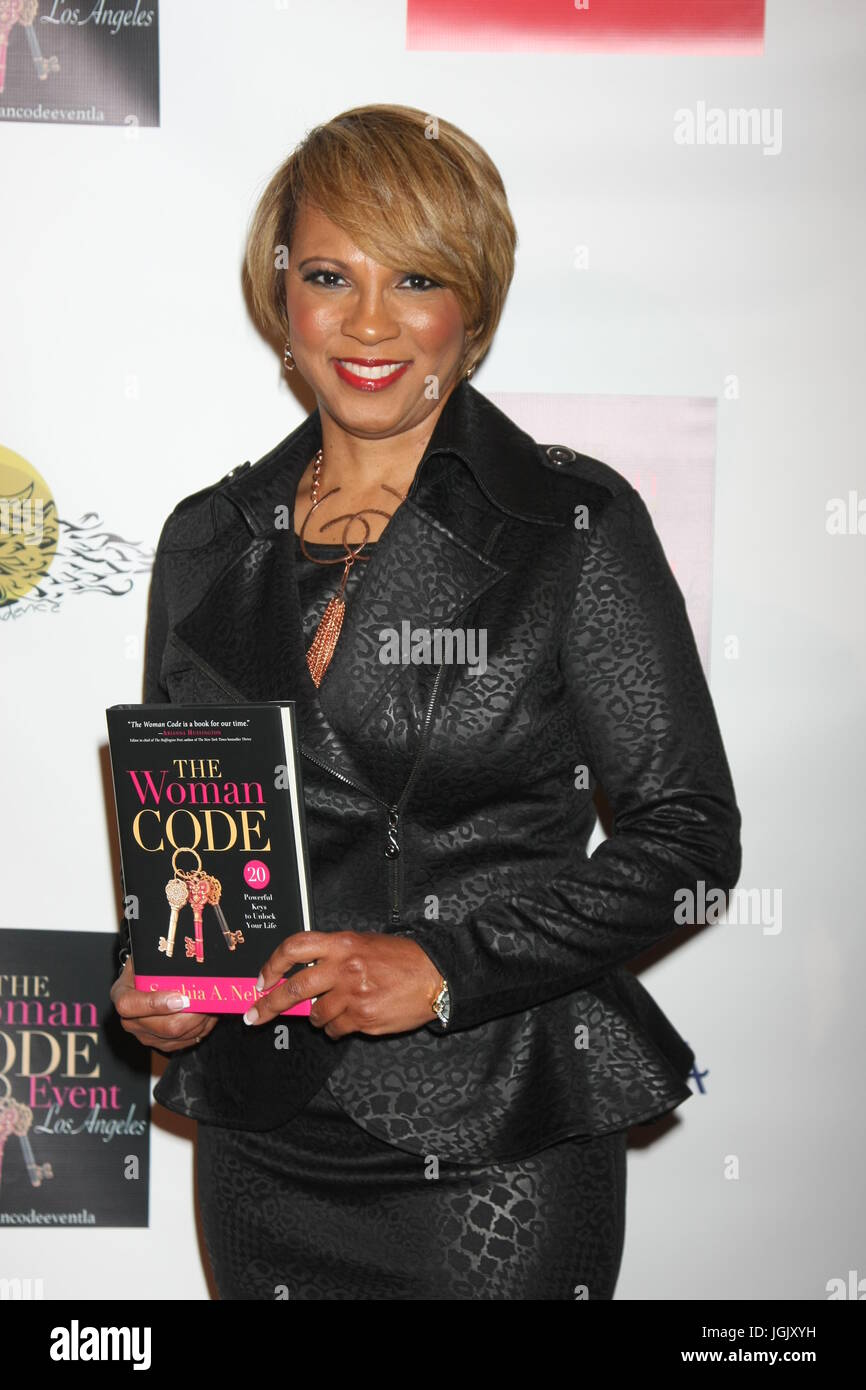 Los Angeles, CA, USA. 29th Jan, 2016. LOS ANGELES - JAN 29: Sophia A. Nelson at the An Evening with The Woman Code - Stock Image