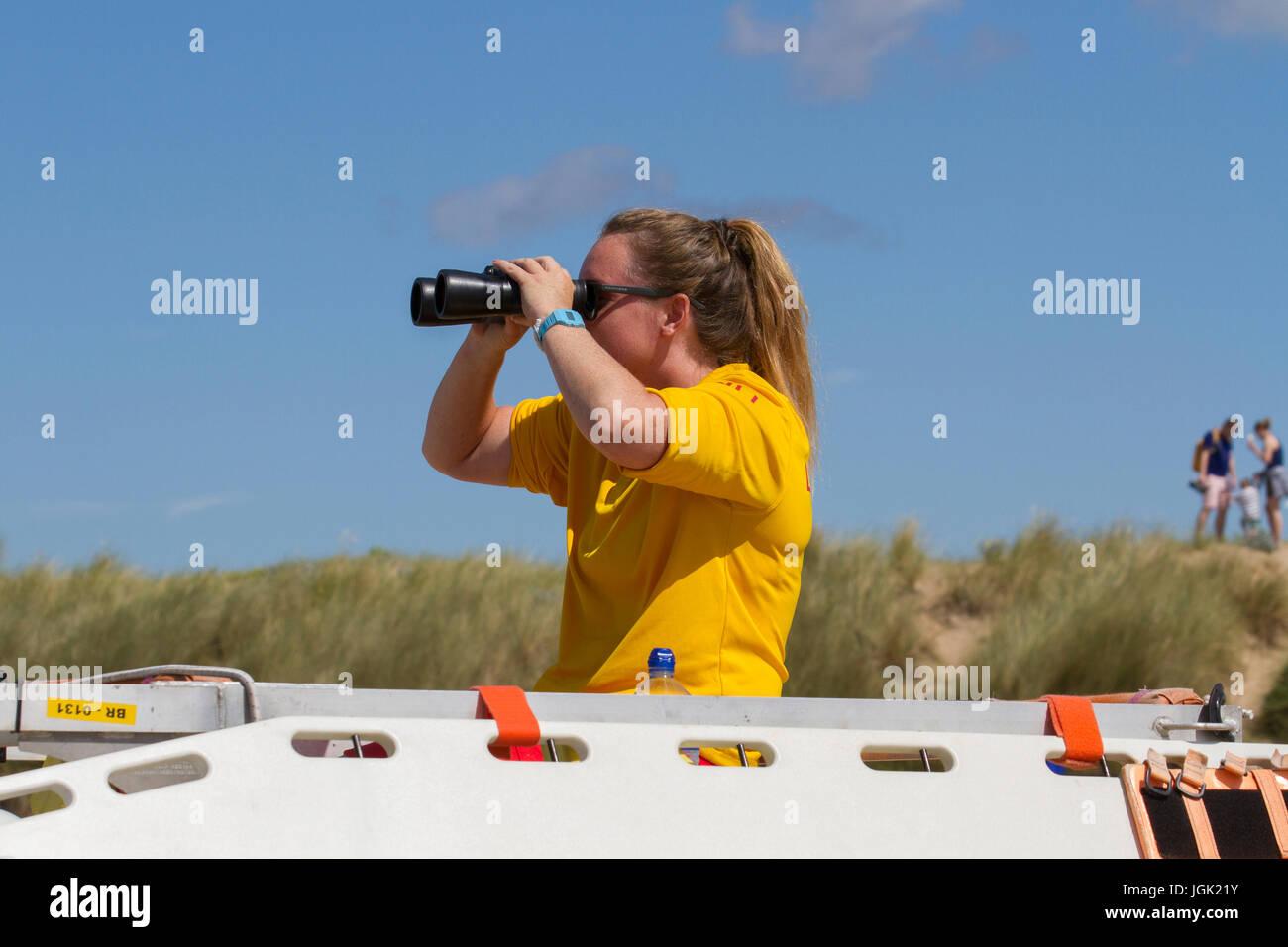 cb140c4e0d3 Female lifeguard on Crosby Beach