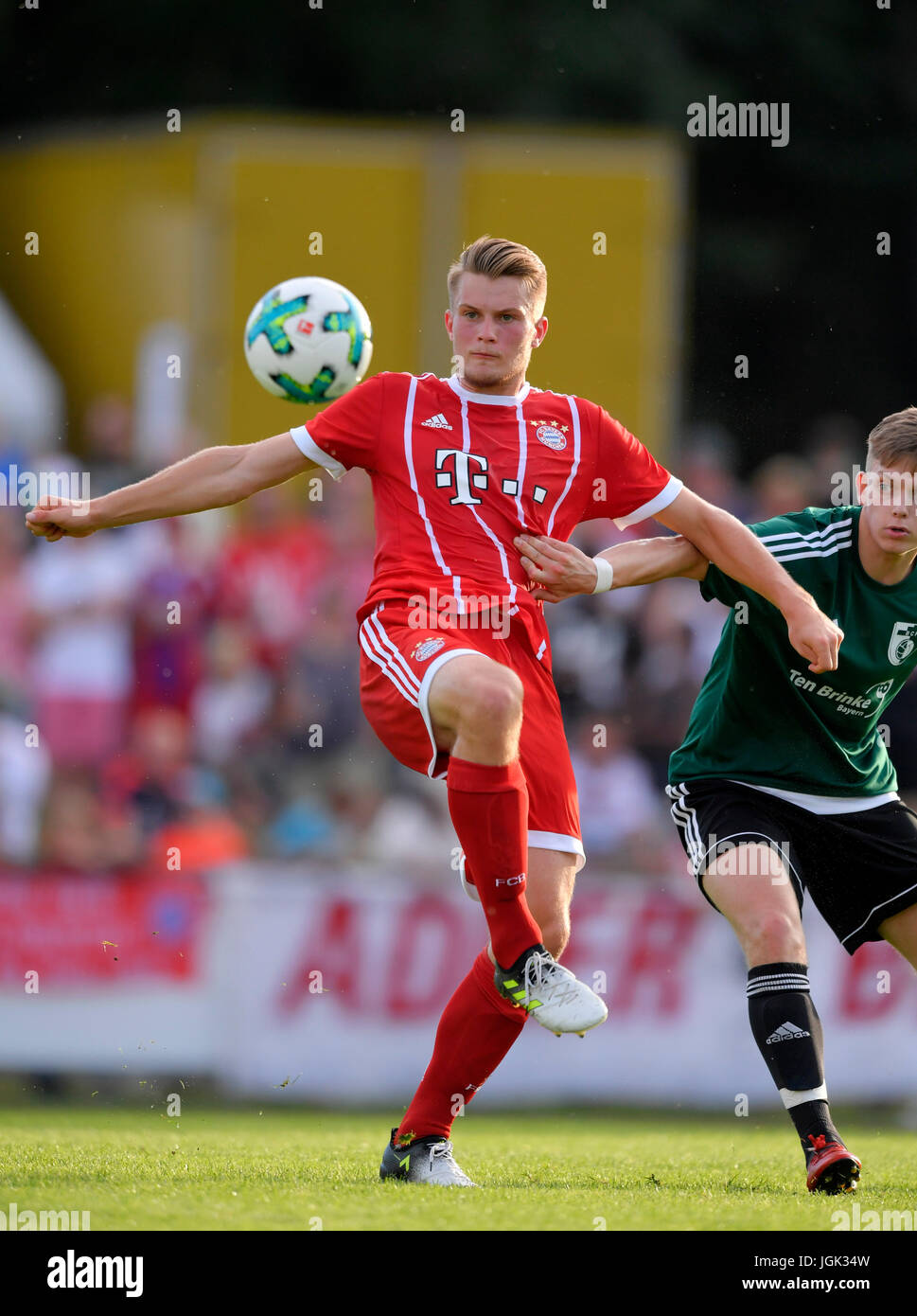 06.07.2017, Fussball 1.Bundesliga 2017/2018, Saisonvorbereitung, BCF Wolfratshausen - FC Bayern München, im - Stock Image