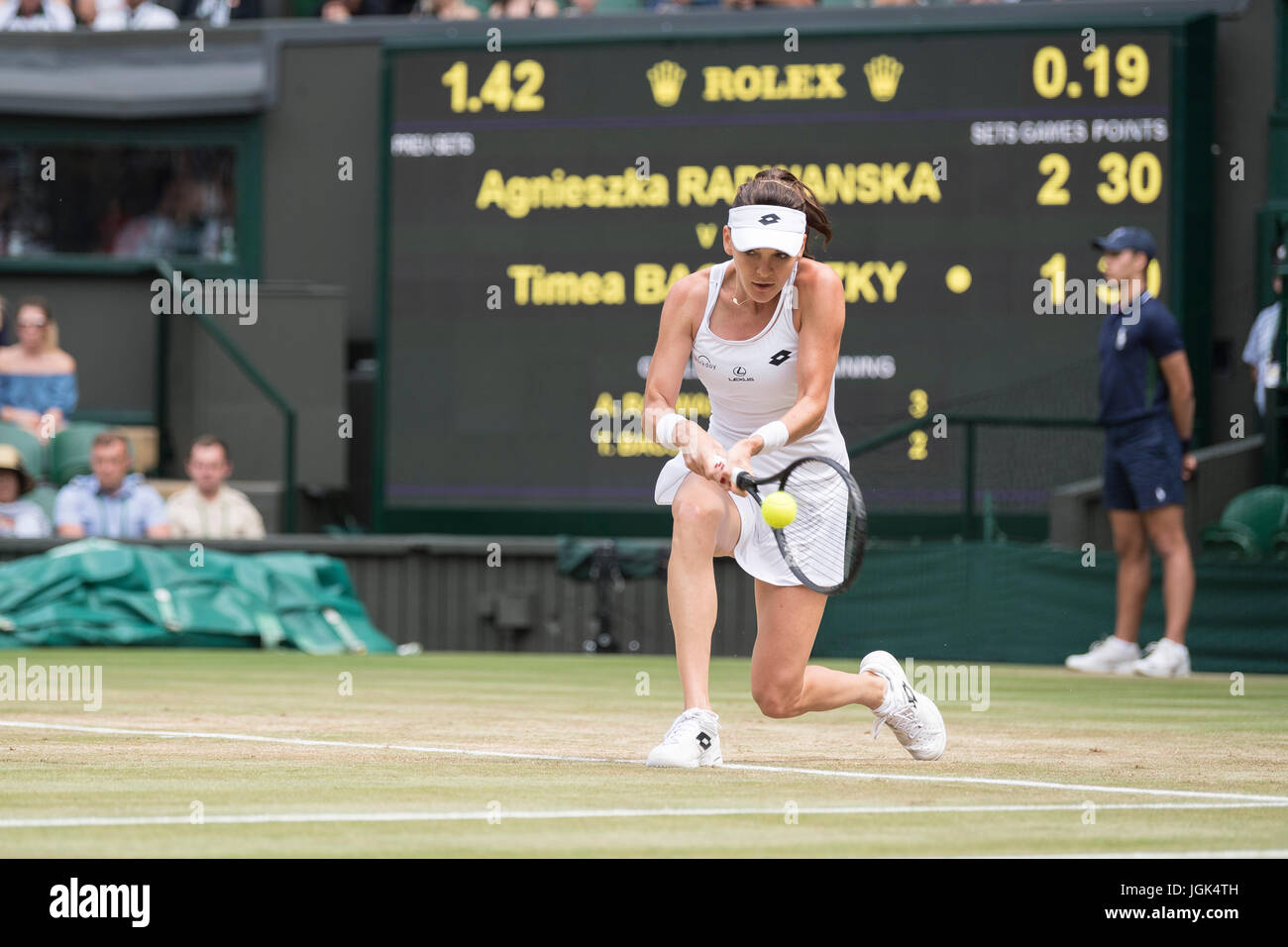 London, UK. 8th July, 2017. The Wimbledon Tennis Championships 2017 held at The All, UK. 08th July, 2017. Lawn Tennis Stock Photo