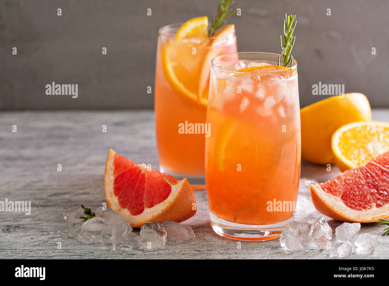 Citrus cocktail with grapefruit and orange - Stock Image