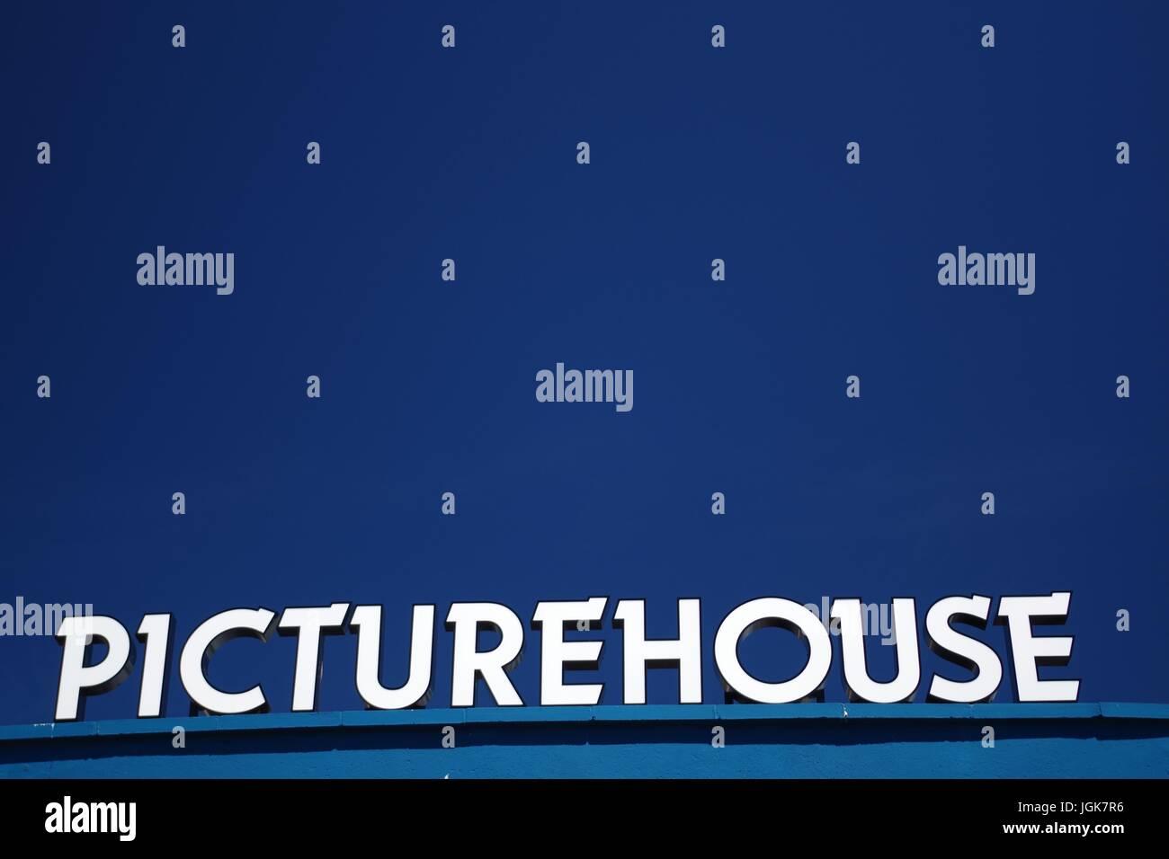 Picturehouse Cinema Sign, Exeter, Devon, UK. July, 2017. - Stock Image