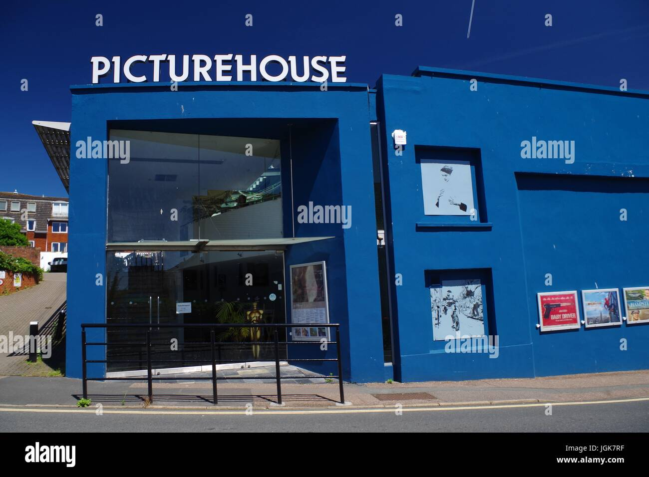 Picturehouse Cinema Building with Wall Art. Exeter, Devon, UK. July, 2017. - Stock Image