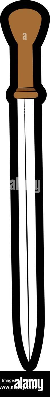 Mediaval sword weapon icon vector illustration graphic design - Stock Vector