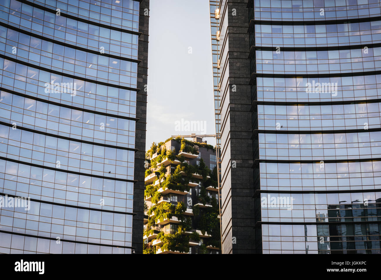 Bosco Verticale, vertical forest building, Porta nuova district, Milan, Lombardy, Italy, Europe Stock Photo