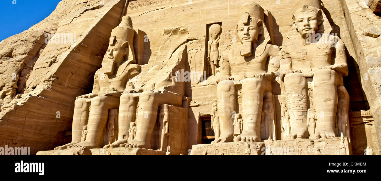 RS 7568. Backgrounds; Colours; Colors; Display, Temple of Ramses II, Abu Simbel, Upper Egypt Stock Photo