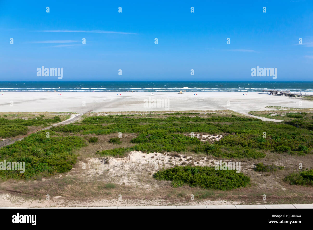 The very wide beach in Wildwood Crest, New Jersey, United States. - Stock Image