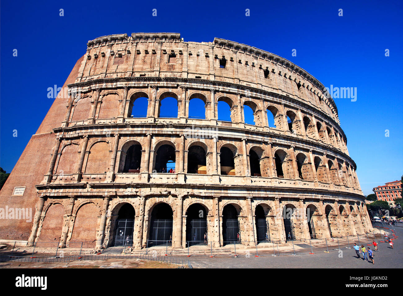 The Colosseum ('Colosseo'), also known as the 'Flavian Amphitheatre'), Rome, Italy - Stock Image