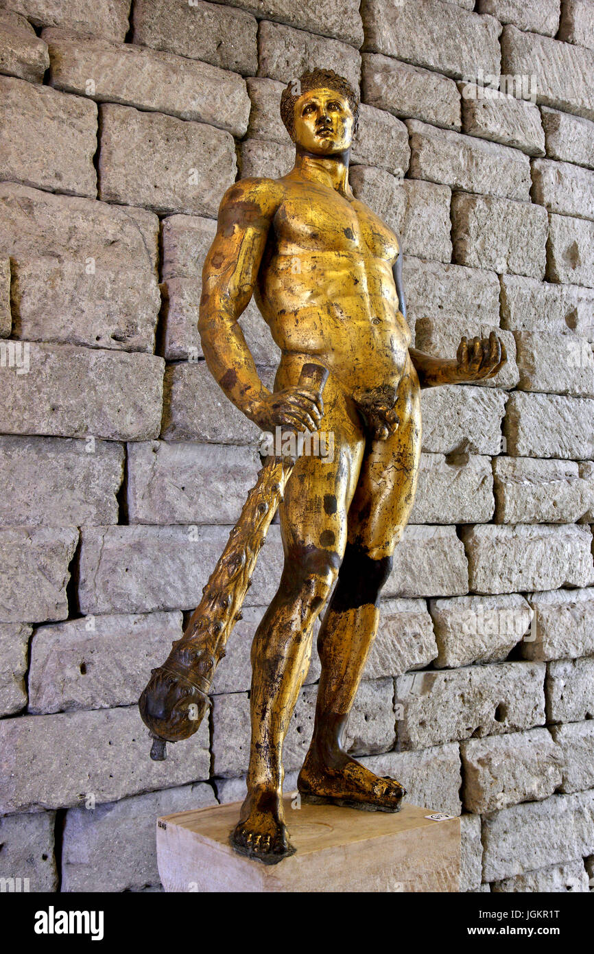 The Gilded Tarot Images On: The Gilded Bronze Hercules Of The Forum Boarium In The
