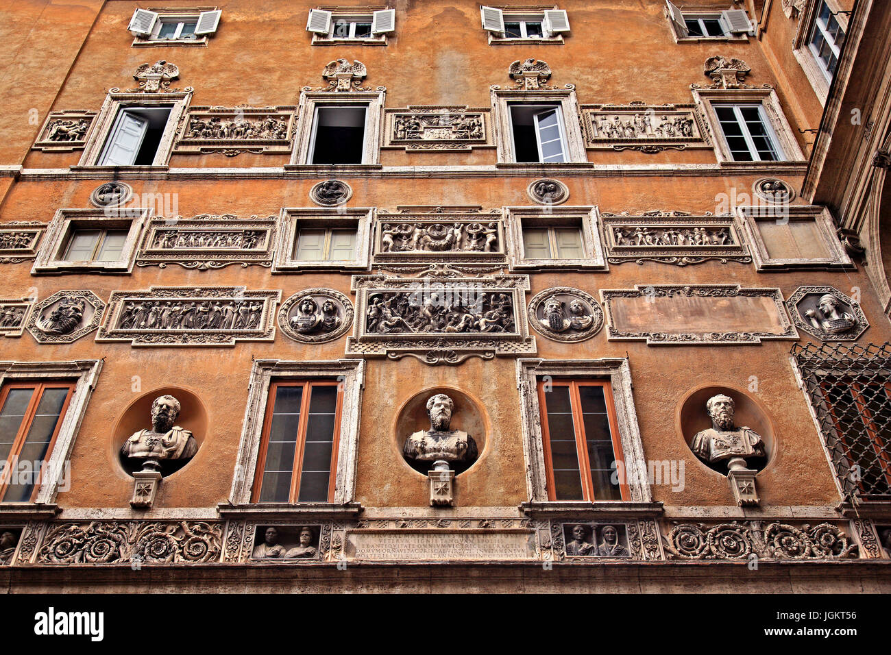 In the courtyard of the Centro Italiano Studi Americani (Italian Center for American Studies), Rome, Italy. - Stock Image