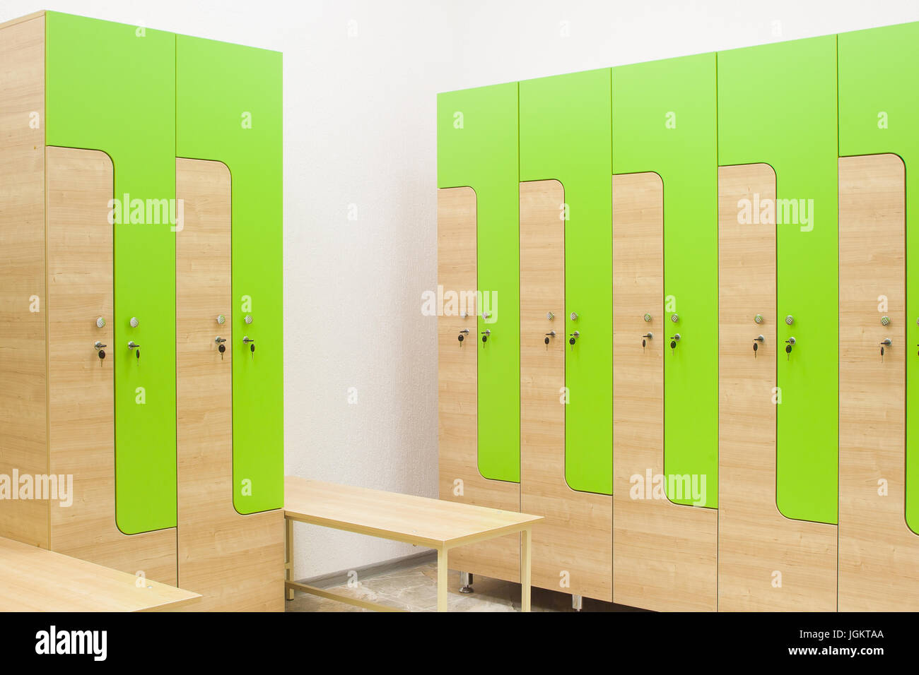 Marvelous Green And Wooden Sports Wardrobe In The Gym For Clothes And Machost Co Dining Chair Design Ideas Machostcouk