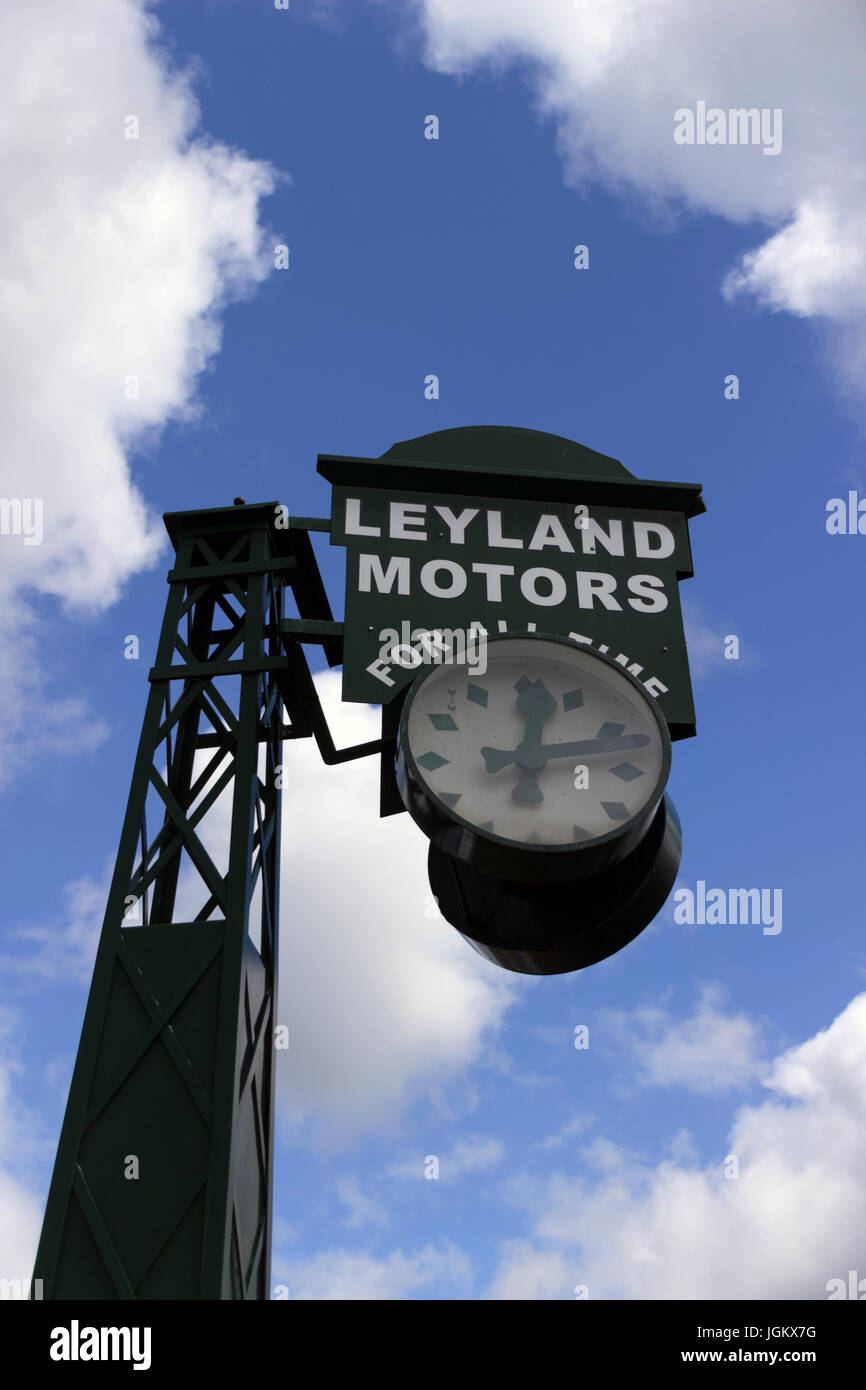 Leyland Motors For All Time Clock Stock Photo